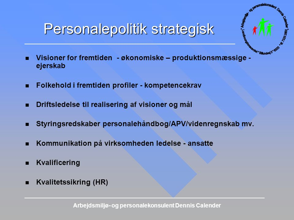 Personalepolitik strategisk