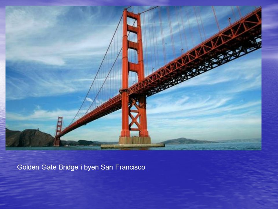 Golden Gate Bridge i byen San Francisco