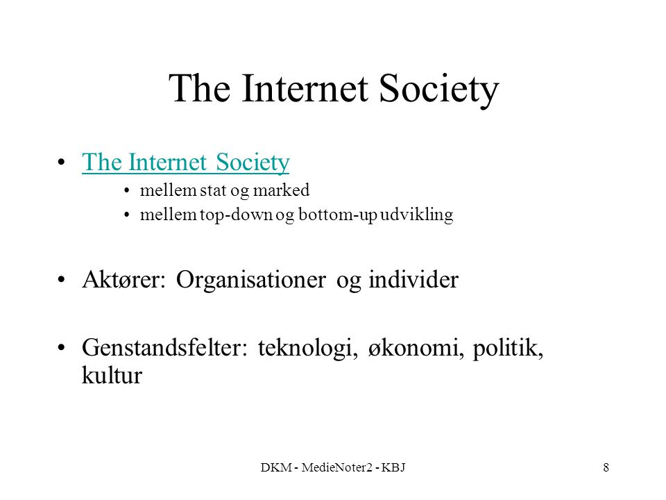 The Internet Society The Internet Society