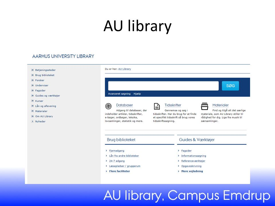 AU library