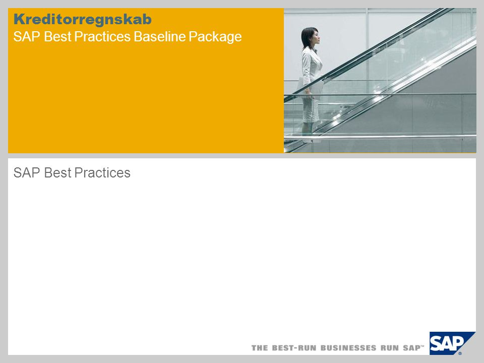 Kreditorregnskab SAP Best Practices Baseline Package