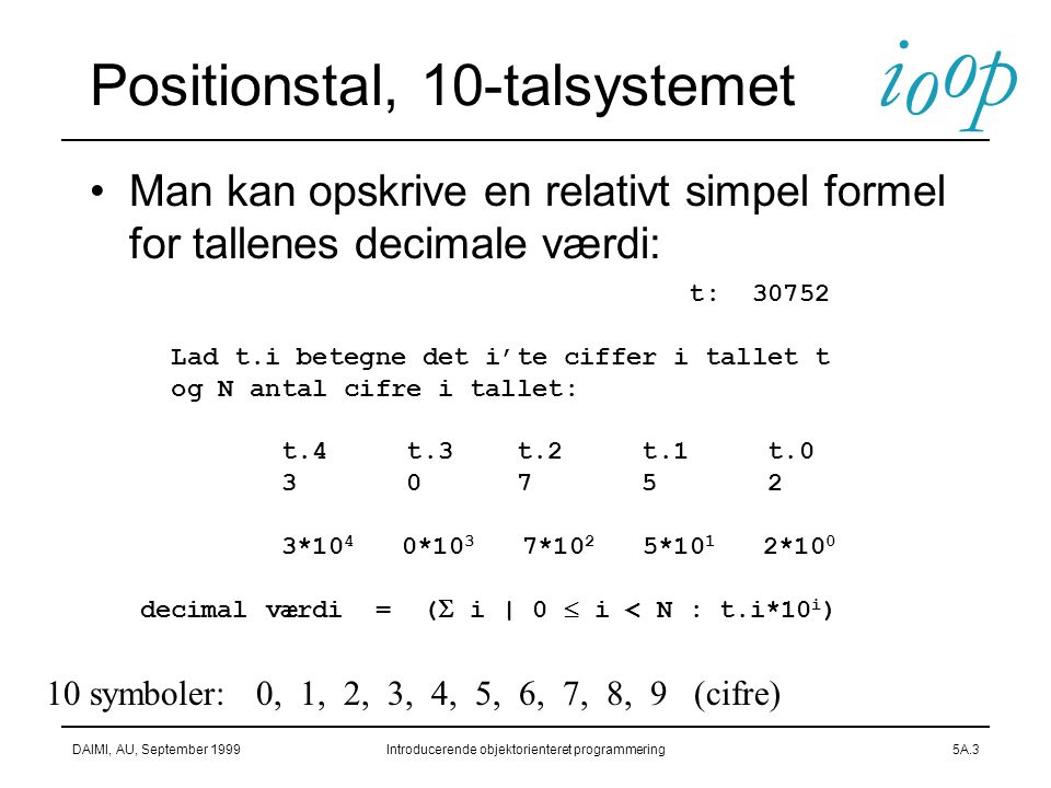 Positionstal, 10-talsystemet