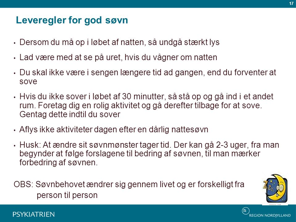 Leveregler for god søvn